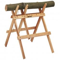 Cavalete de madeira para corte de lenha